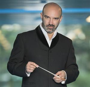 Argentine conductor Facundo Agudín, who led the National Symphony in the opening concert of the new season.